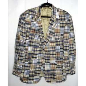 NWT Jos A Bank Madras Sports Coat Blazer 44 Short